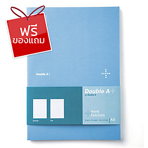 DOUBLE A สมุดบันทึกแพลนเนอร์ DA+ A5 80แกรม 40แผ่น สีฟ้า