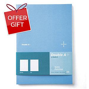DOUBLE A DA PLUS PLANNER NOTEBOOK A5 80GRAMS 40SHEETS BLUE