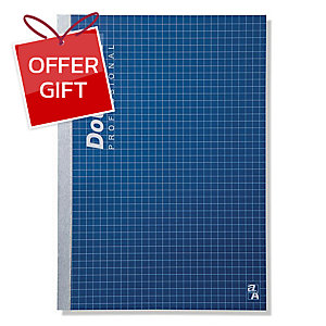 DOUBLE A PROFESSIONAL NOTEBOOK B5 70GRAMS 60SHEETS DARK BLUE
