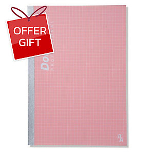 DOUBLE A PROFESSIONAL NOTEBOOK B5 70GRAMS 60SHEETS PINK