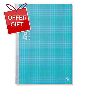 DOUBLE A PROFESSIONAL NOTEBOOK B5 70GRAMS 60SHEETS GREEN