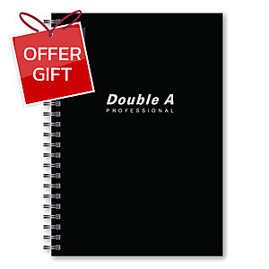 DOUBLE A WIREBOUND NOTEBOOK B5 70GRAMS 60SHEETS BLACK