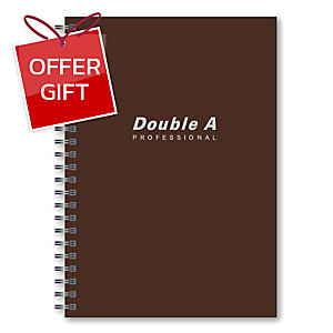 DOUBLE A WIREBOUND NOTEBOOK B5 70GRAMS 60SHEETS BROWN