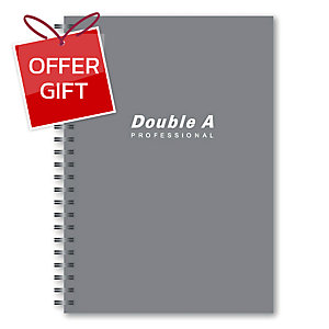 DOUBLE A WIREBOUND NOTEBOOK B5 70GRAMS 60SHEETS GREY