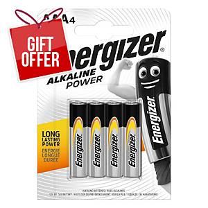 Battery Energizer Alkaline Power AAA/LR03 , 4pcs