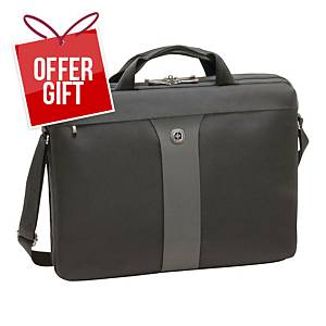 WENGER SLIM LEGACY L/TOP BAG 17   BLK