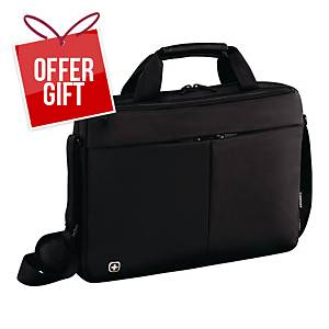 WENGER SLIM FORMAT L/TOP BAG 16   BLK
