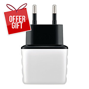 EXC SHINE WALL CHARGER 2XUSB 3.1A WH