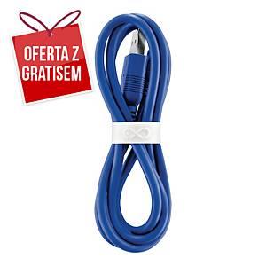 Uniwersalny kabel micro USB  eXc WHIPPY, 0.9m, granatowy