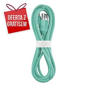 Uniwersalny kabel micro USB eXc WHIPPY, 2m, miętowy