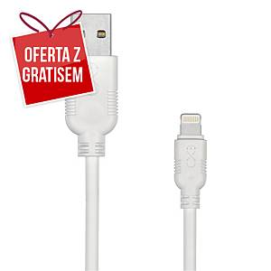 Kabel kompatybilny z Lightning eXc WHIPPY, 2m, biały