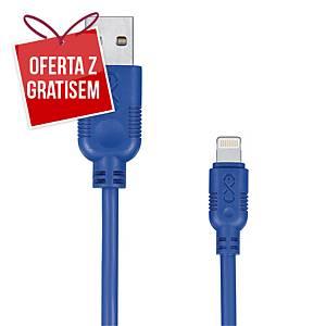 Kabel kompatybilny z Lightning eXc WHIPPY, 2m, granatowy