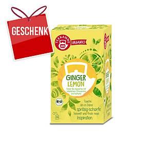 Teekanne Bio Organics Tee, Zitrone und Ingwer, 20 Portionen