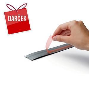 Durable 470823 Durafix, samolepiaca magnetická páska, strieborná farba, 5 m