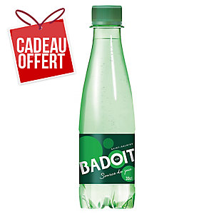 CARTON DE 30 BOUTEILLES D EAU GAZEUSE BADOIT VERTE 33 CL