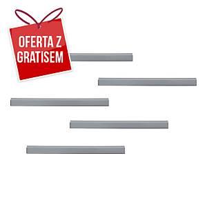Samoprzylepna listwa magnetyczna DURAFIX® 210x17mm, srebrna, w opakowaniu 5 szt