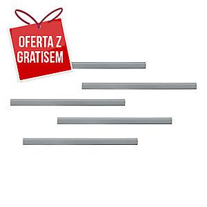 Samoprzylepna listwa magnetyczna DURAFIX® 297x17mm, srebrna, w opakowaniu 5 szt