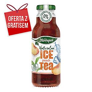 Napój herbaciany HERBAPOL Ice Tea, brzoskwinia, 8 butelek x 0,3 l