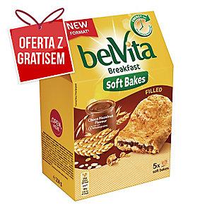 Ciastka BELVITA zbożowe z nadzieniem czekoladowo-orzechowym, 5 ciasteczek, 250 g