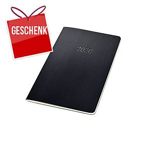 Monats-Kalenderheft Sigel Conceptum C2084, 135 x 210 mm, schwarz