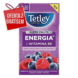 Herbata TETLEY SUPER FRUITS Energia, 20 torebek