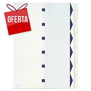 Conjunto 6 separadores índice Avery Index Maker - A4 - cartolina - branco