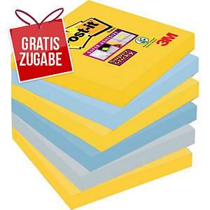 Haftnotizen Post-it Super Sticky 654-6SS-NY, 76x76mm, 100 Blatt, New York, 6 Stk