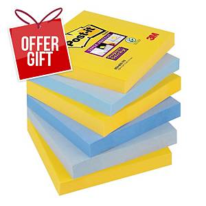 Post-It Super Sticky New York Notes 76x76mm - Pack Of 6
