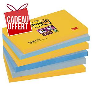 Notes Post-it Super Sticky - 76 x 127 mm - New York - 6 blocs x 90 feuilles