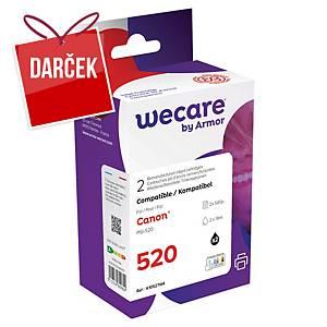 WECARE komp. atramentová kazeta CANON PGI-520 (2932B001) čierna (balenie 2ks)