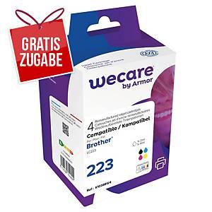Tintenpatrone wecare  komp. mit brother LC223, Inhalt: 12ml, 4 Farben