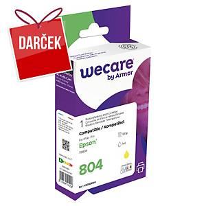 WECARE kompatibilná atramentová kazeta EPSON C13T08044020 žltá