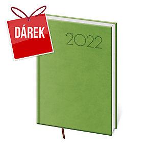 Diář denní A5 Print - světle zelený, 14,3 x 20,5 cm, 352 stran