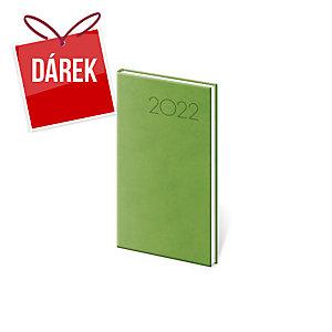Diář týdenní kapesní Print - světle zelený, 8 x 15 cm, 128 stran
