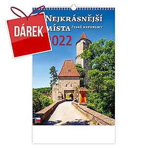 Nejkrásnější místa České republiky -  české tříměsíční kalendárium, 14 listů