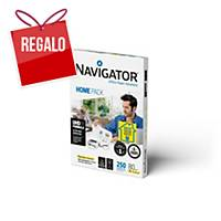 Paquete 250 hojas de papel A4 Navigator Home Pack 80 gramos