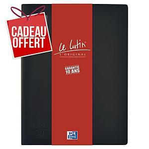 Porte vues Oxford Le Lutin - PVC opaque - 20 pochettes - noir