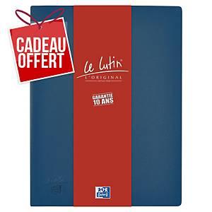 Porte vues Oxford Le Lutin - PVC opaque - 30 pochettes - bleu