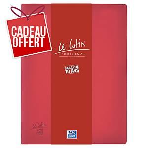 Porte vues Oxford Le Lutin - PVC opaque - 30 pochettes - bordeaux