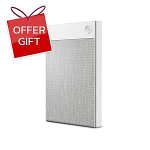 SEAGATE STHH2000401  External Hard Drive Backup Plus Ultra Touch 2TB White