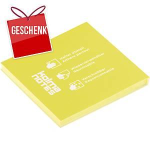 Haftnotizen Kolma, 76x76mm, gelb