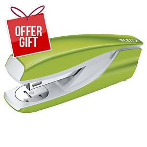 Leitz WOW Metal Stapler Half-Strip Green