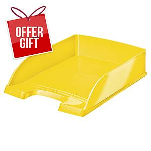 Leitz WOW Letter Tray A4 Yellow