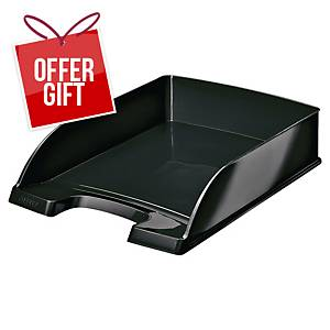 Leitz WOW Letter Tray A4 Black