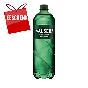Wasser mit Kohlensäure Valser, 1L, Packung à 6 Stück