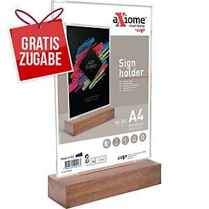 Tischaufsteller CEP 20033, A4, Material: Holz, glasklar