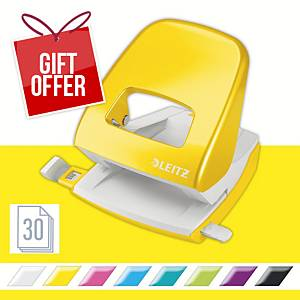 Leitz WOW Hole Punch 2-Hole Yellow
