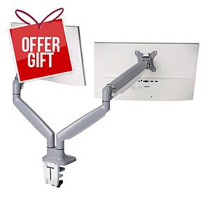 Kensington K55471EU Smartfit® One-Touch Height Adjustable Dual Monitor Arm