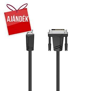 Hama kábel, HDMI csatlakozó - DVI-D csatlakozó, 1,5 m
