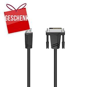 HAMA Verbindungskabel HDMI Anschluss zu DVI-D Stecker, 3 m